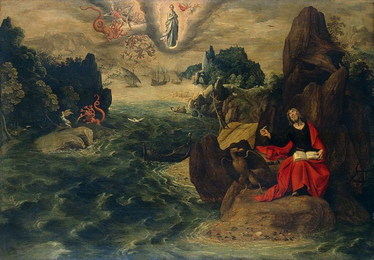 St. John the Evangelist at Patmos by Tobias Verhaecht