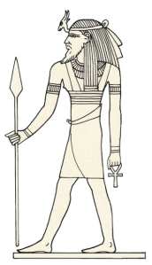 Egyptian depiction of Resheph from The Complete Gods and Goddesses of Egypt