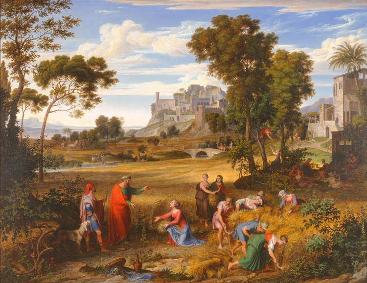Landscape with Ruth and Boaz by Joseph Anton Koch, 1823-1825