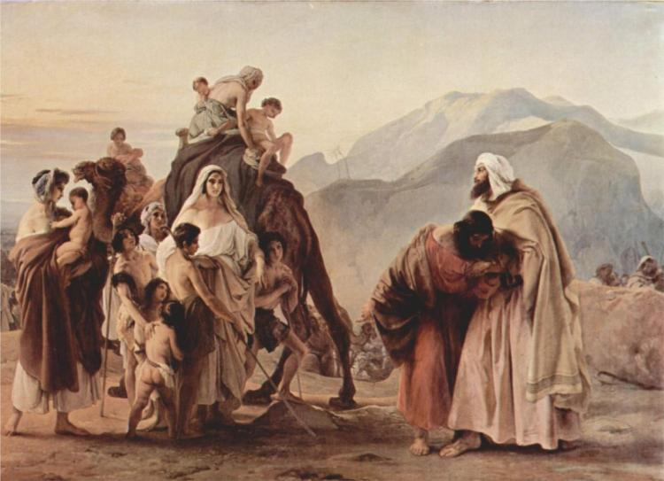 """Meeting of Jacob and Esau"" by Francesco Hayez, 1844"