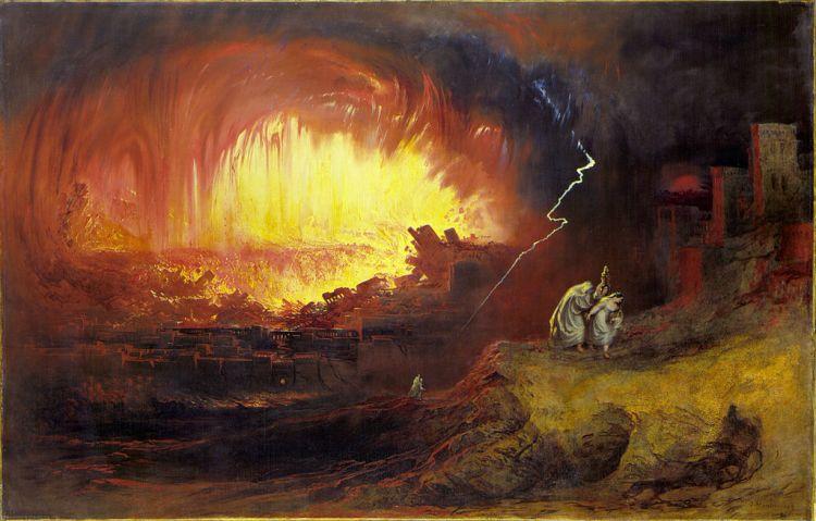 John Martin, The Destruction Of Sodom And Gomorrah, 1852
