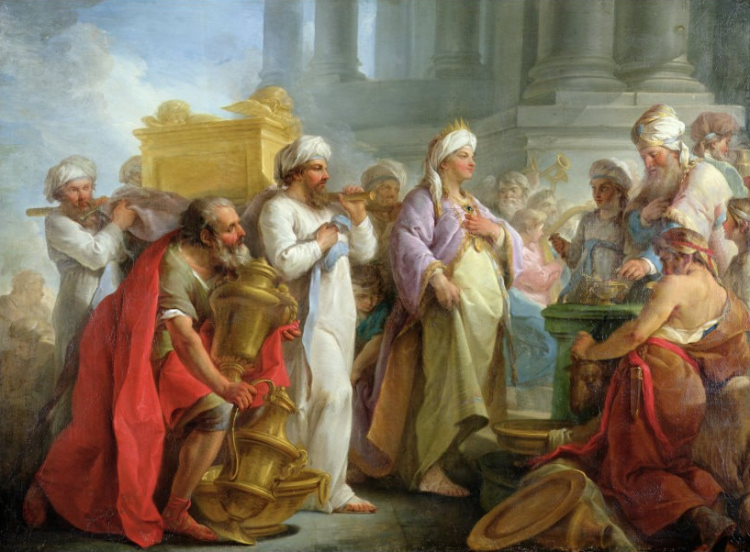 Blaise Nicholas Le Sueur - Solomon before the ark of the covenant, 1747