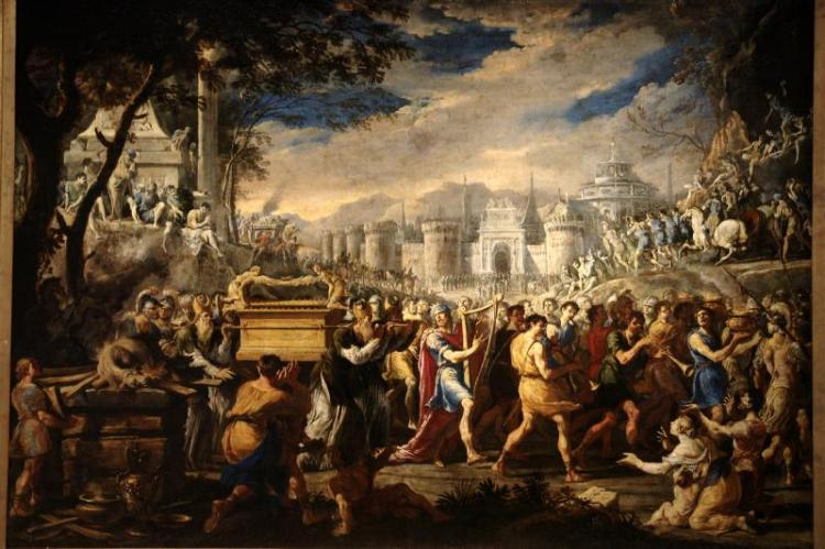 "Domenico Gargiulo, ""David Bearing the Ark of Testament into Jerusalem"""