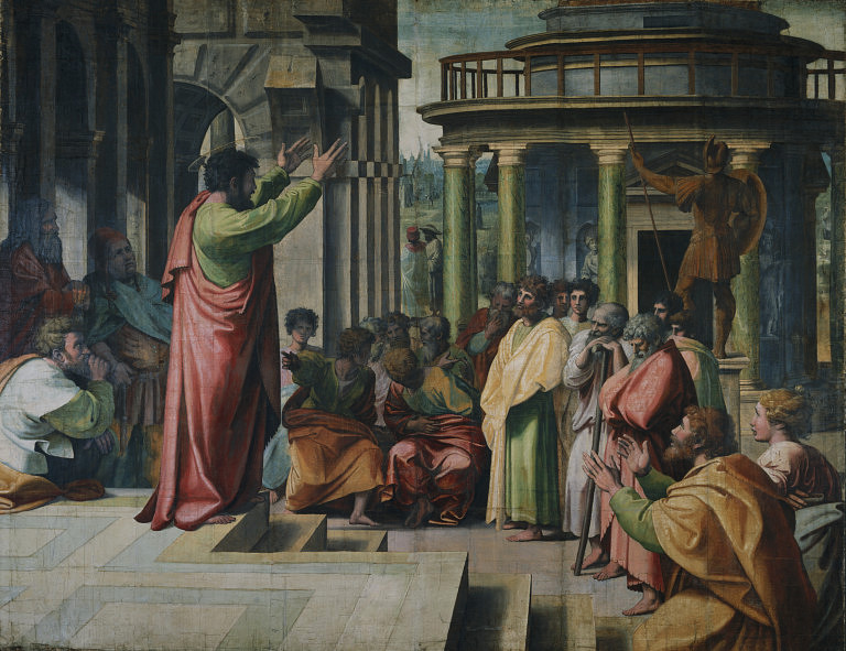 St. Paul Preaching in Athens, by Raphael (1515)