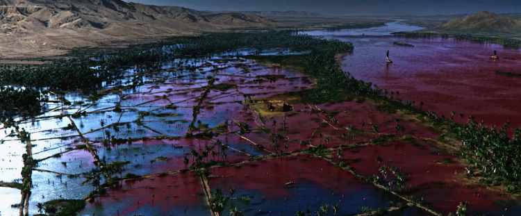 The Nile Turning into Blood — Exodus: Gods and Kings (2014)