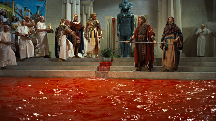 The Water Turning to Blood — The Ten Commandments, 1956