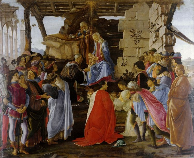 "Botticelli, ""Adoration of the Magi"", c. 1475"