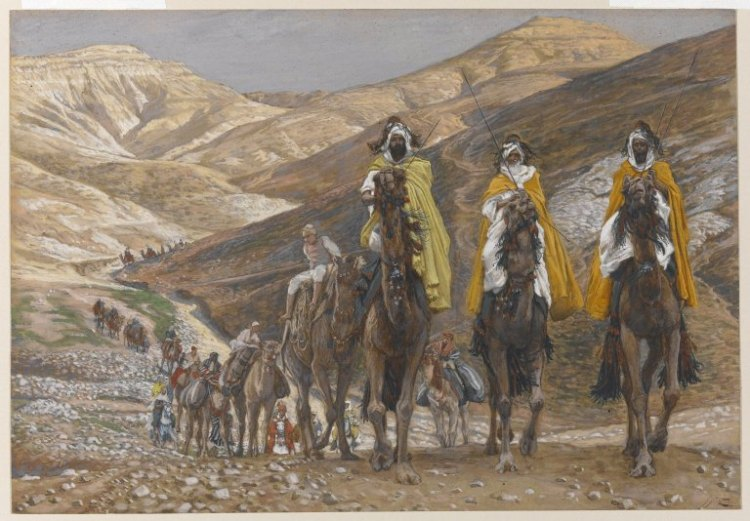 "James Tissot, ""The Magi Journeying"", painted between 1886 and 1894"