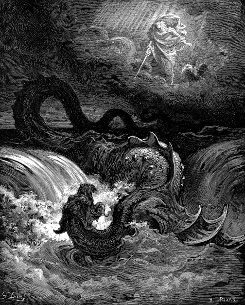 """Destruction of Leviathan"" — 1865 engraving by Gustave Doré"