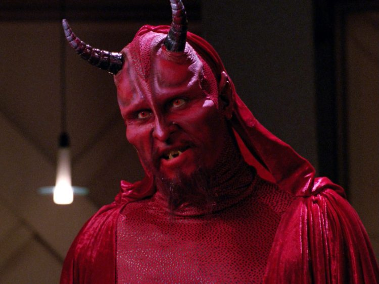 "Ardra as the Devil in ""Devil's Due"", TNG episode 4x13 (Feb. 4, 1991)"