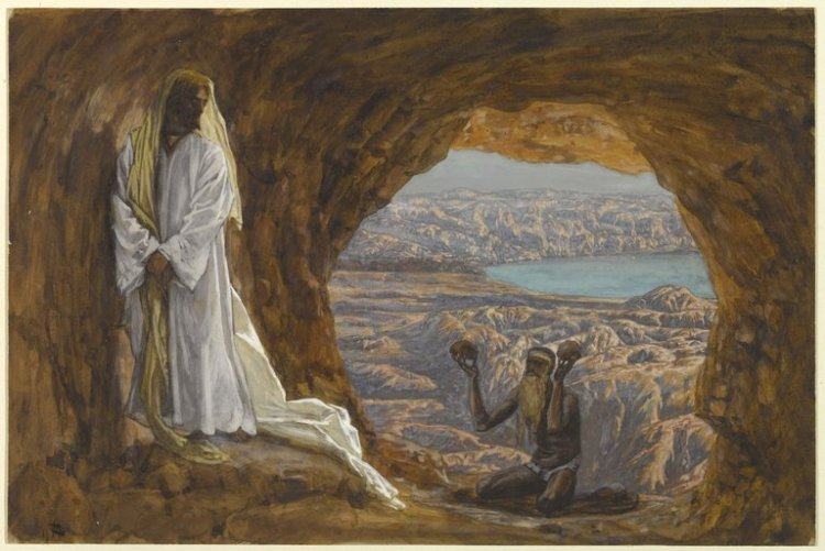 Jesus Tempted in the Wilderness (Jésus tenté dans le désert) by James Tissot (Credit: Brooklyn Museum)