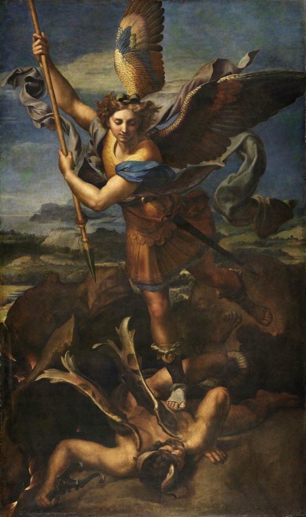 Raphael, Saint Michael Vanquishing Satan (1518)