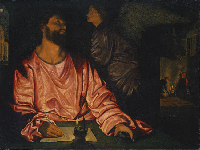 Giovanni Gerolamo Savoldo, Saint Matthew and the Angel, 1534
