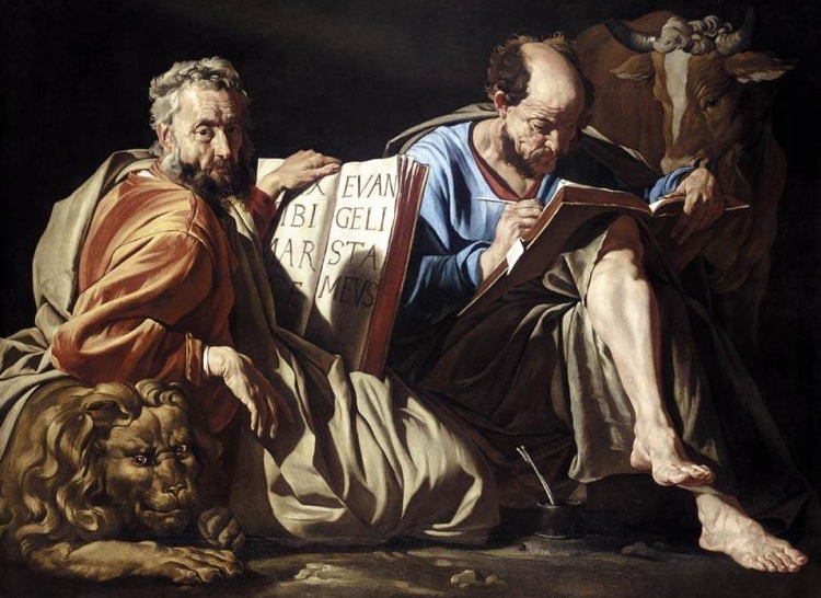 Matthias Stom, The Evangelists St. Mark and St. Luke, 1635