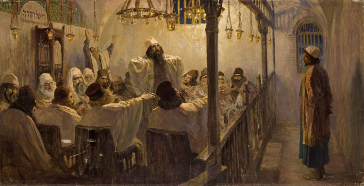 Vasily Polenov, He is guilty of death, 1906