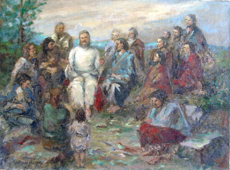 Sermon on the Mount by Aurel Naray, 1910-20