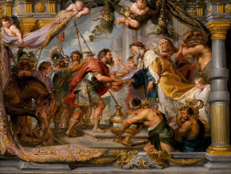 The Meeting of Abraham and Melchizedek by Peter Paul Rubens, c. 1626