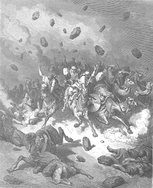 """Destruction of the Army of the Amorites"" by Gustave Dore"