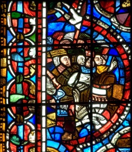 Stained Glass Window Panel (the five kings) at Poitiers Cathedral
