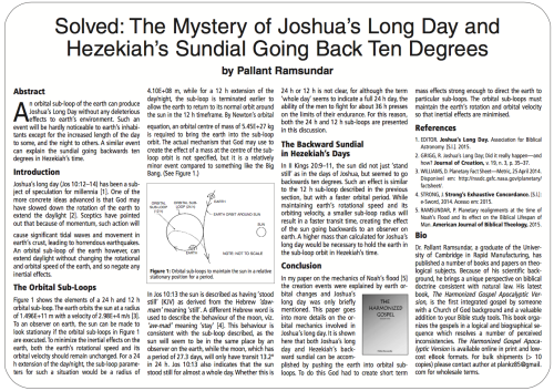 """Solved: The Mystery of Joshua's Long Day"""
