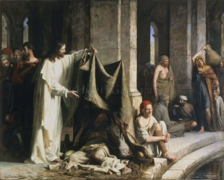 Healing at the Pool of Bethesda by Carl Bloch, 1883