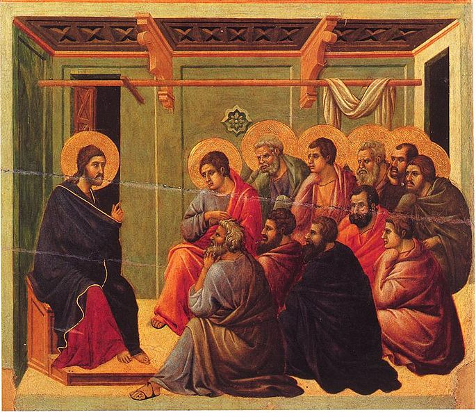 Christ Taking Leave of the Apostles by Duccio, between 1308 and 1311