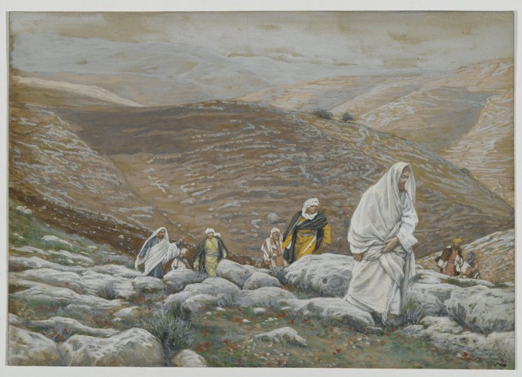 With Passover Approaching, Jesus Goes Up to Jerusalem by James Tissot, 1886-1894