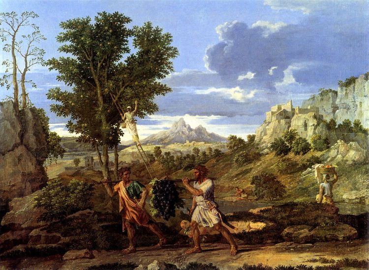 Autumn by Nicholas Poussin, painted between 1660 and 1664