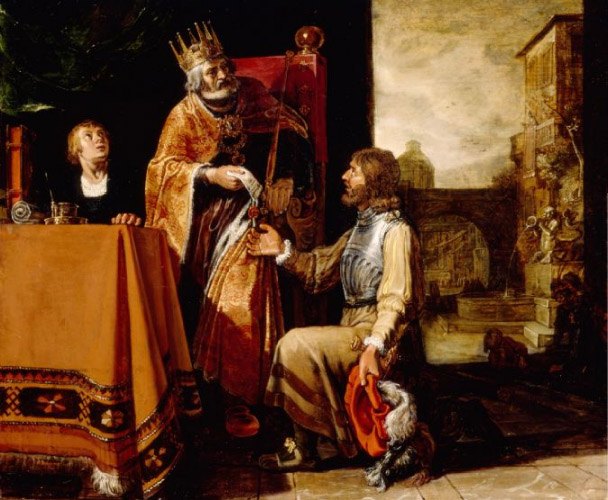 Pieter Lastman, King David Handing the Letter to Uriah