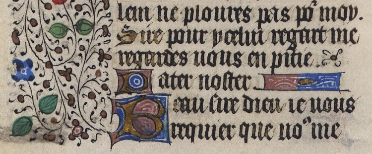 Pater Noster (15th century French Book of Hours) 2
