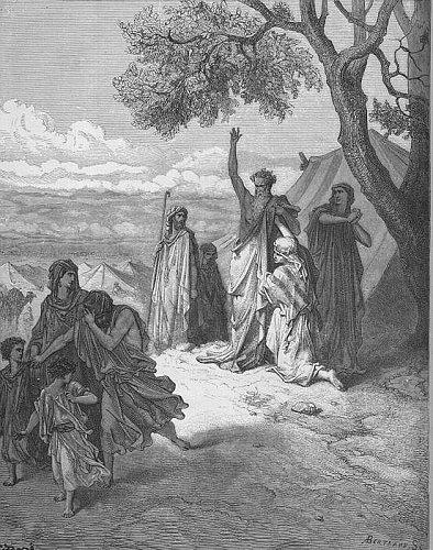 Noah curses Ham by Gustave Doré, 1865