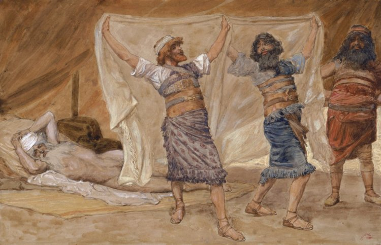 Noah's Drunkeness by James Tissot, c. 1896-1902