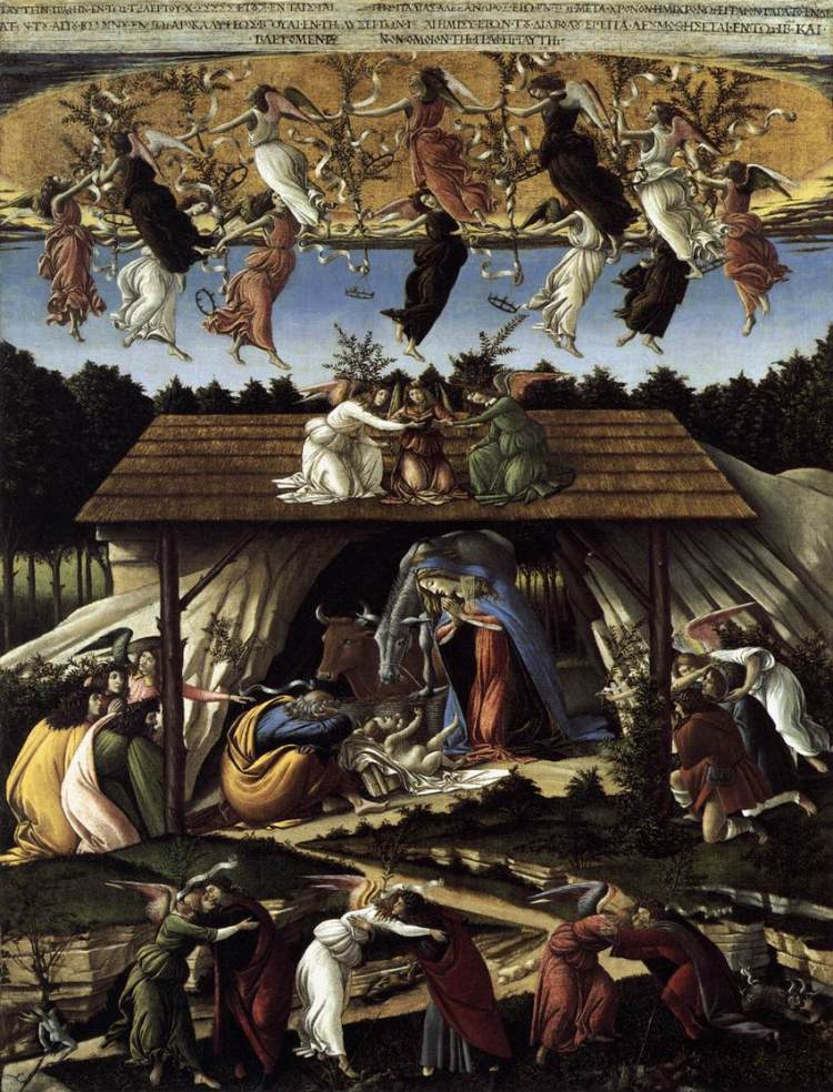 Botticelli, The Mystical Nativity, c. 1500