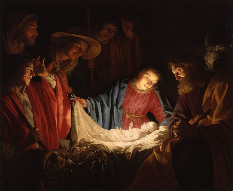 Gerard van Honthorst, Adoration of the Shepherds (1622)