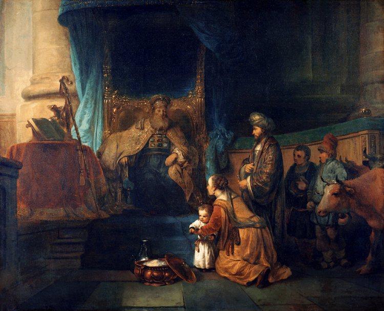 Gerbrand van den Eeckhout - Anna toont haar zoon Samuël aan de priester Eli (Anna presenting her son Samuel to the priest Eli), c. 1665