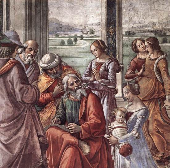 Zacharias Writes Down the Name of his Son, by Domenico Ghirlandaio (1486–1490)