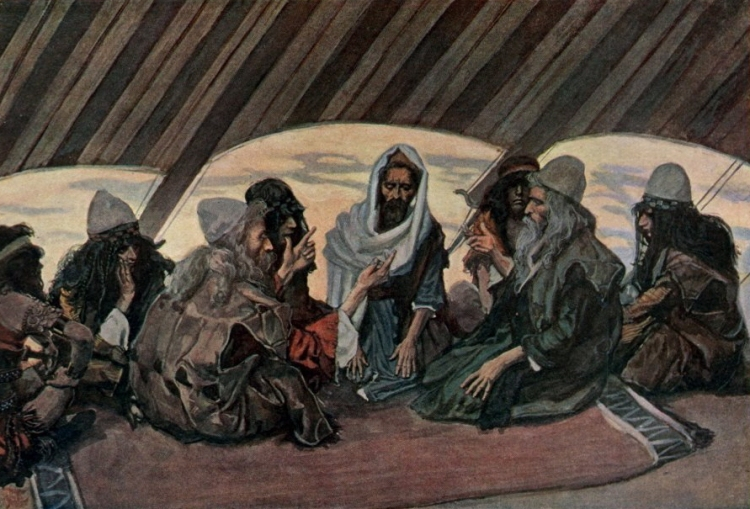 Jethro and Moses by James Tissot, 1896-1900