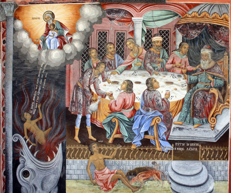 Fresco from Rila Monastery, Bulgaria