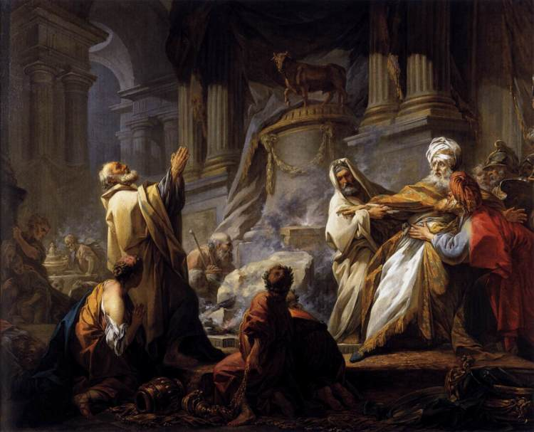 Jeroboam Offering Sacrifice for the Idol by Jean-Honoré Fragonard, 1752