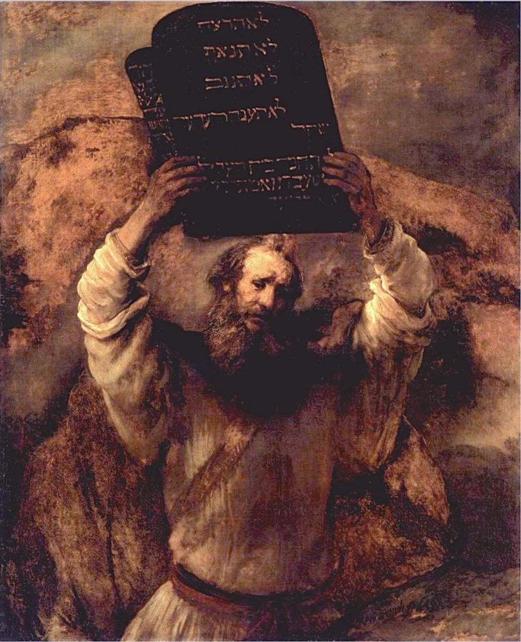 Moses Breaking the Tablets of the Law by Rembrandt, 1659
