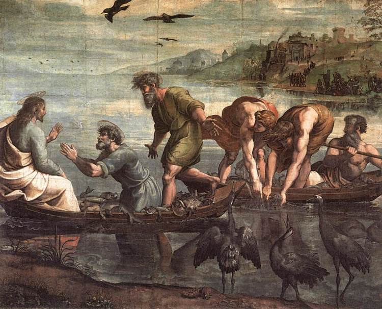 The Miraculous Draught of Fishes by Raphael, 1515
