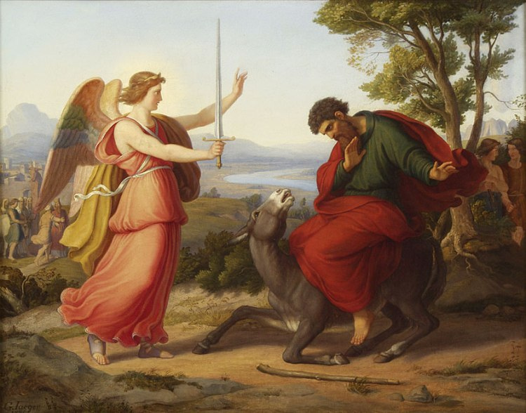 Balaam and the angel, by Gustav Jaeger, 1836