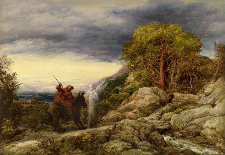 John Linnell, The Prophet Balaam and the Angel, 1859