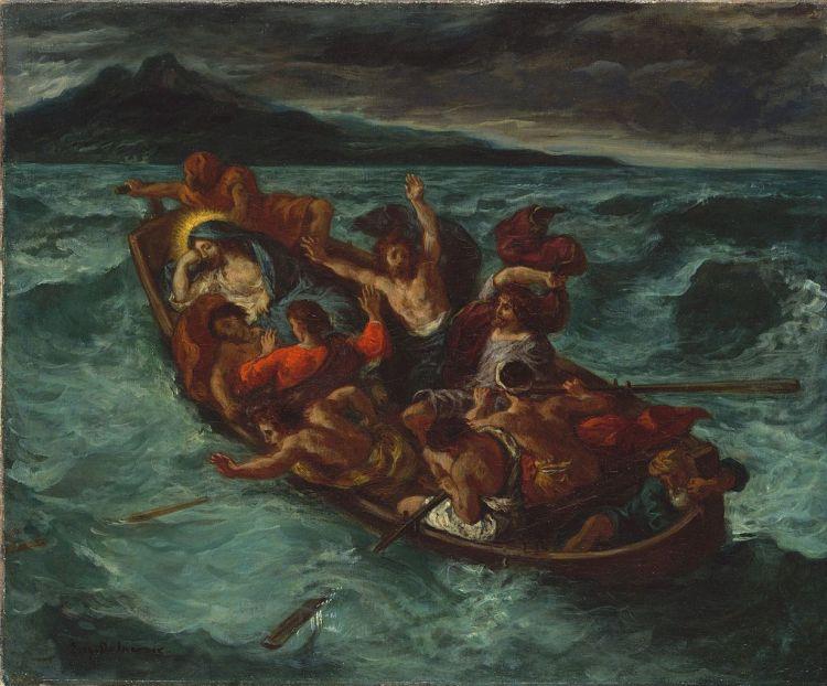 Christ Endormi pendant la Tempête by Eugène Delacroix, c. 1853