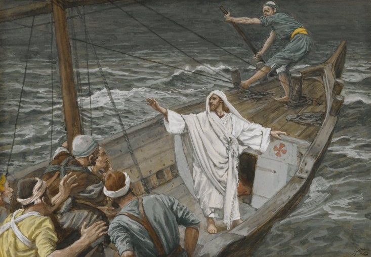 Jesus Stilling the Tempest by James Tissot, 1886-1894