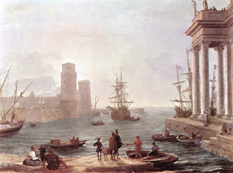 Port Scene with the Departure of Odysseus from the Land of the Pheacians, by Claude Lorrain, 1646