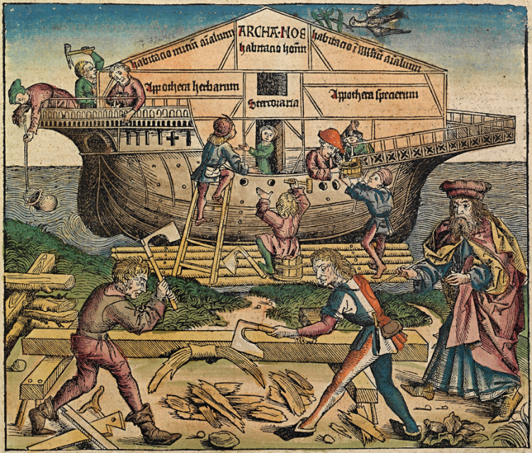 Illustration of Noah's Ark from the Nuremberg Chronicles, 1493