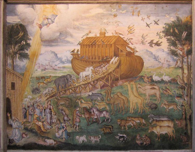Noah's Ark by Aurelio Luini, c. 1556