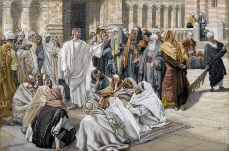 The Pharisees Question Jesus by James Tissot