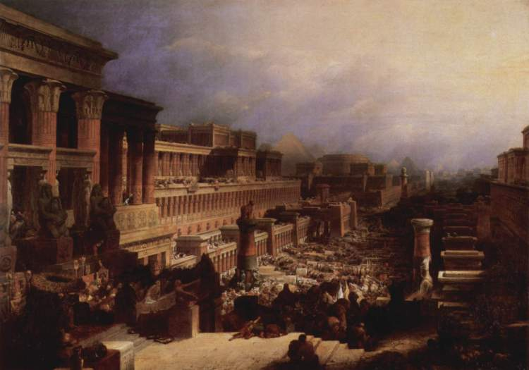 David Roberts, Departure of the Israelites, between 1827 and 1829